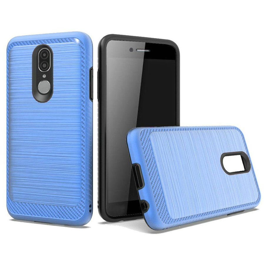 Metallic PC TPU Brushed Case with Carbon Fiber Edge for Coolpad Legacy