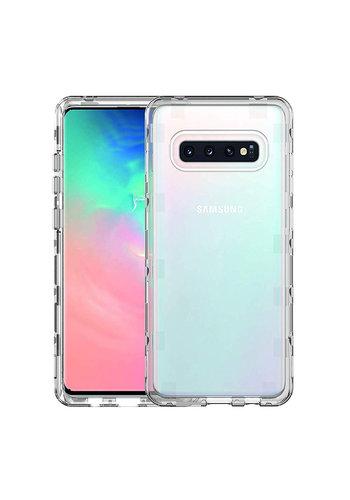 JLW WUW | Crystal Clear PC+TPU Gel Case for Galaxy S10
