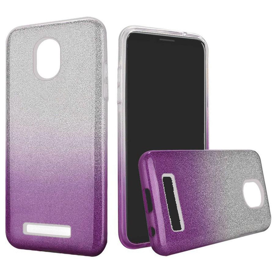 Gradient Two Tone Glitter Paper TPU Gel Case for Foxxd Miro (L590A)