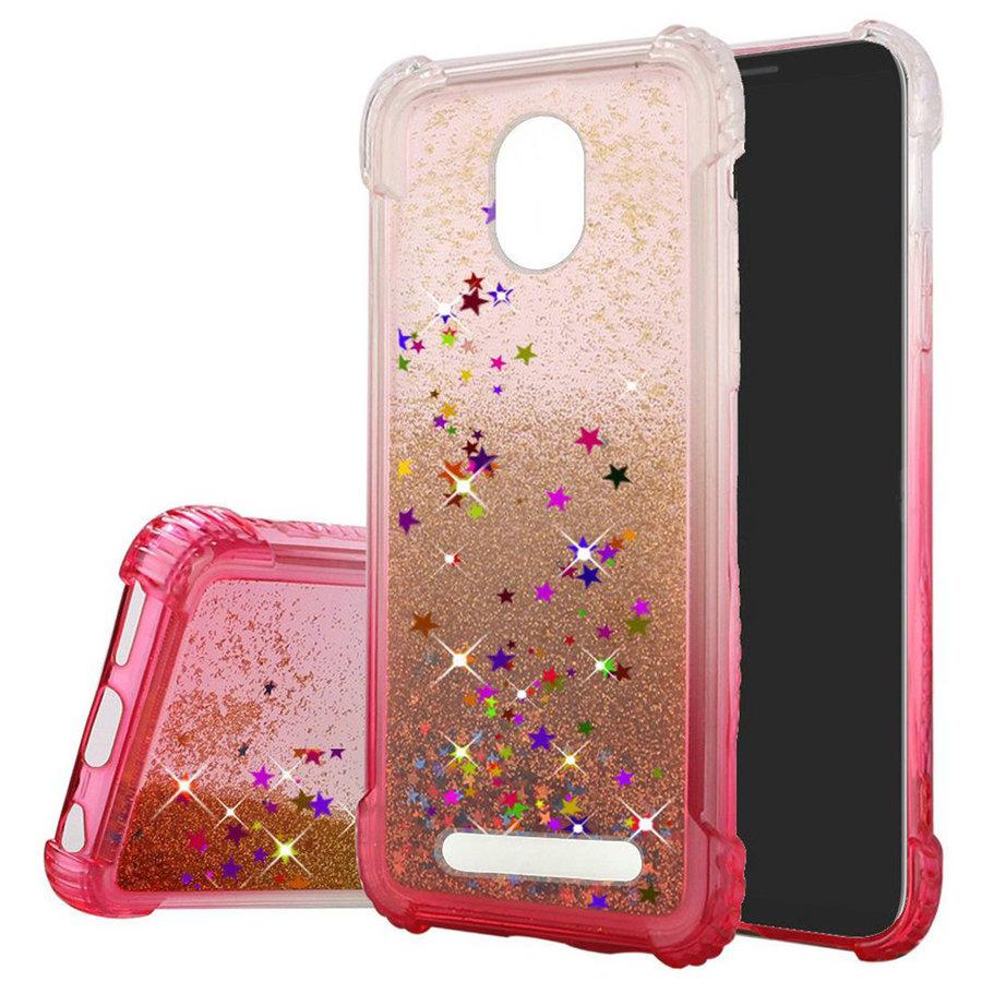 Liquid Quicksand with Glitter Hybrid Hard PC TPU Case for Foxxd Miro (L590A)