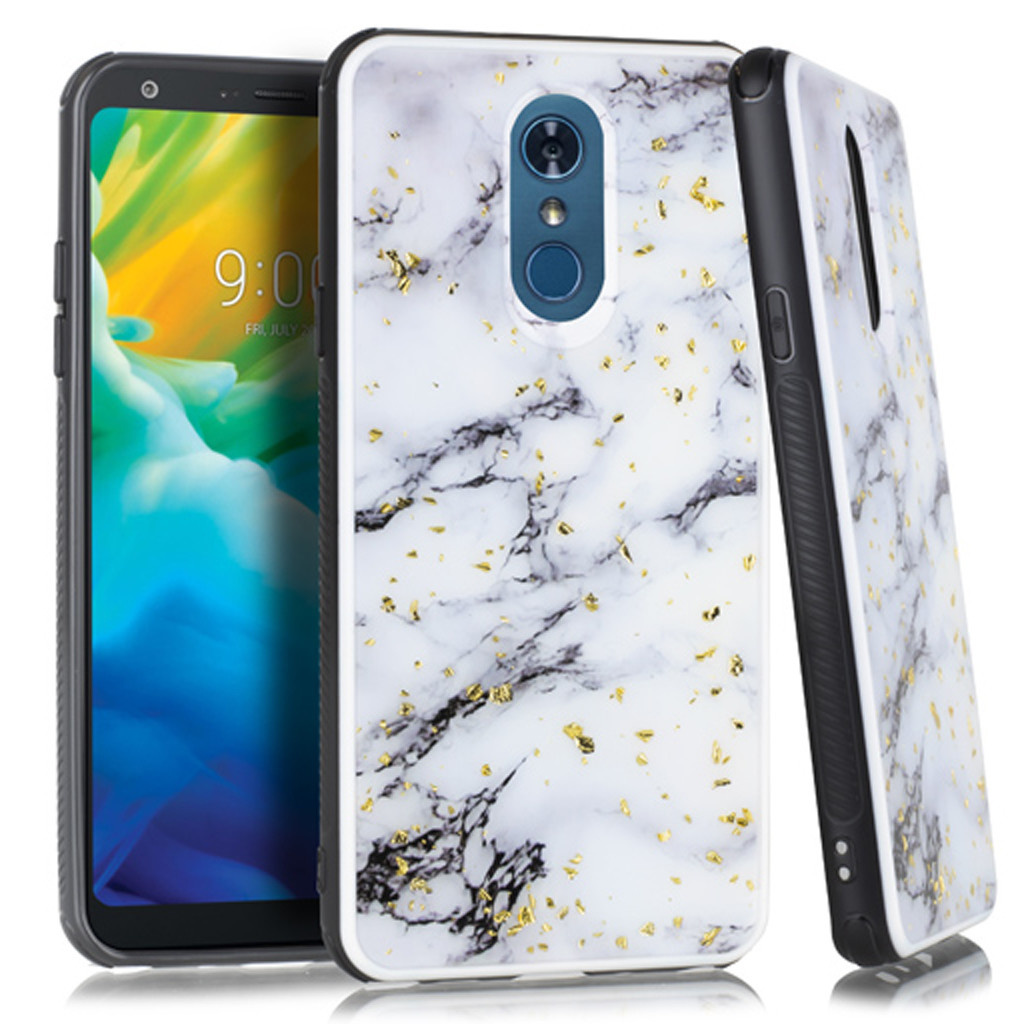 Marble Chrome Flake Case For Lg Stylo 4 Diego Wireless