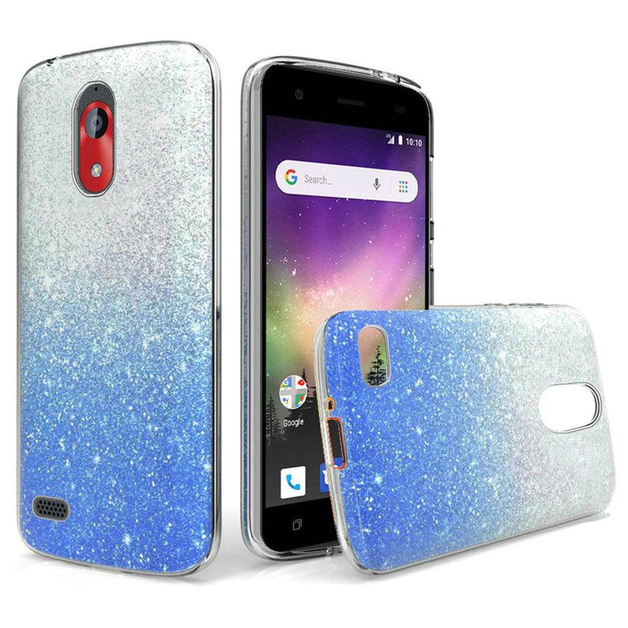 Gradient Two Tone Glitter Paper TPU Gel Case for Coolpad Legacy Go / Illumina