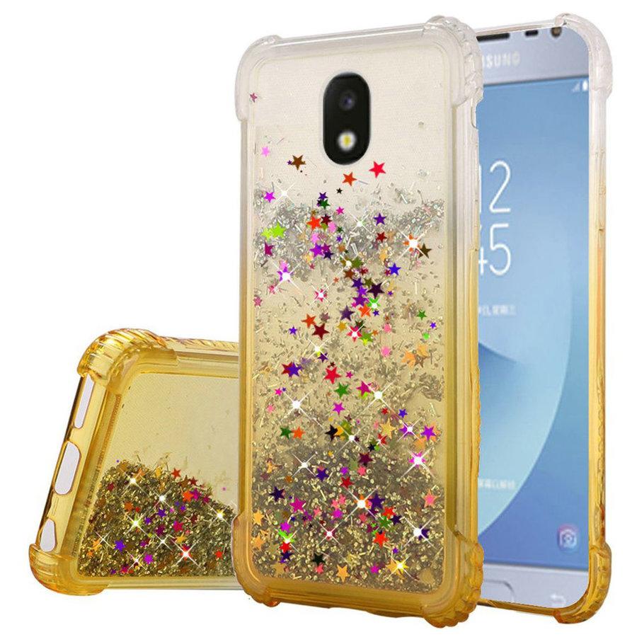 Liquid Quicksand with Glitter Hybrid Hard PC TPU Case for Galaxy J7 Refine / Star (2018)