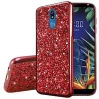 Metallic Chrome Frozen Glitter Case for LG K40