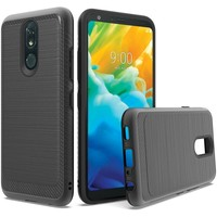 Metallic PC TPU Brushed Case with Carbon Fiber Edge for LG Stylo 5