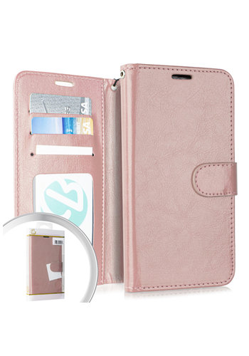 PU Leather Flip Cover Case Wallet with Credit Card Slots for Galaxy A10e