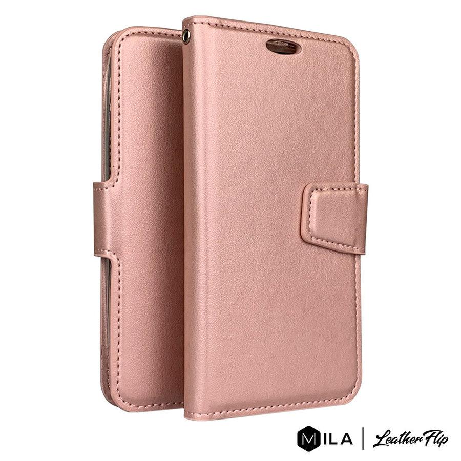 MILA | PU LeatherFlip Wallet Case for Motorola Moto G7 Play