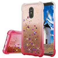 Liquid Quicksand with Glitter Hybrid Hard PC TPU Case for LG Stylo 4