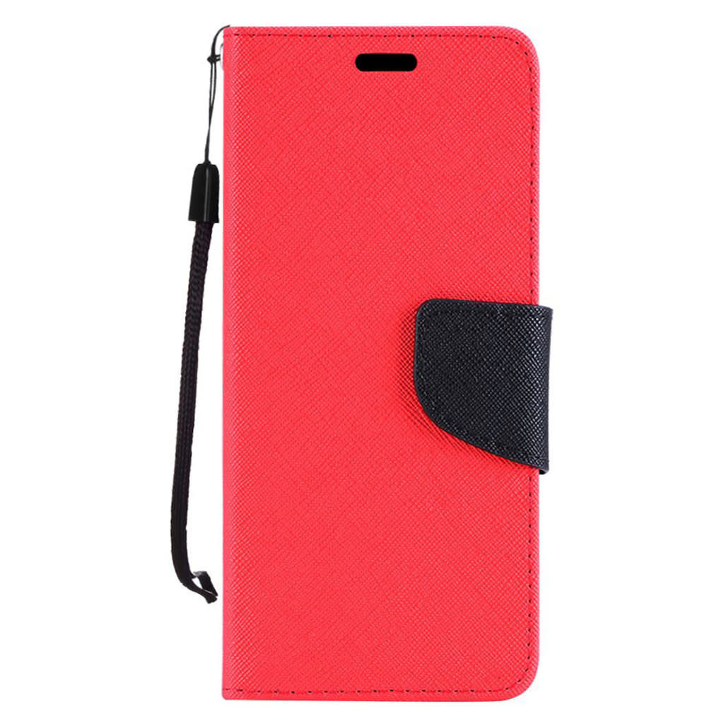 PU Leather Wallet Case with Carbon Fiber Texture for Coolpad Legacy