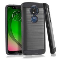 PC TPU Metallic Brushed Design Case for Motorola Moto G7 Power / Supra