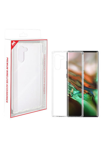 MYBAT Hard PC Transparent Back with Crystal Clear TPU Bumper Case for Galaxy Note 10
