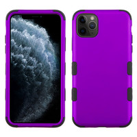MYBAT TUFF Titanium Hybrid Protector Case [Military-Grade Certified] w/out Cutout for iPhone 11 Pro