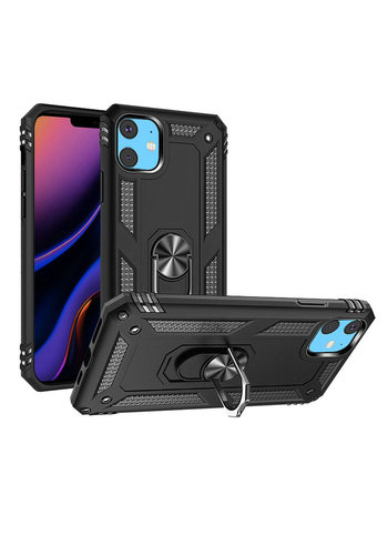 Slim Hybrid PC TPU Magnetic Ring Case for iPhone 11