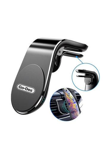 Go-Des L-Shape Vent Magnetic Car Phone Holder / Mount (HD633)