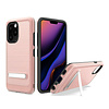 Metallic PC TPU Brushed Case Carbon Fiber Edge with Kickstand for iPhone 11 Pro Max