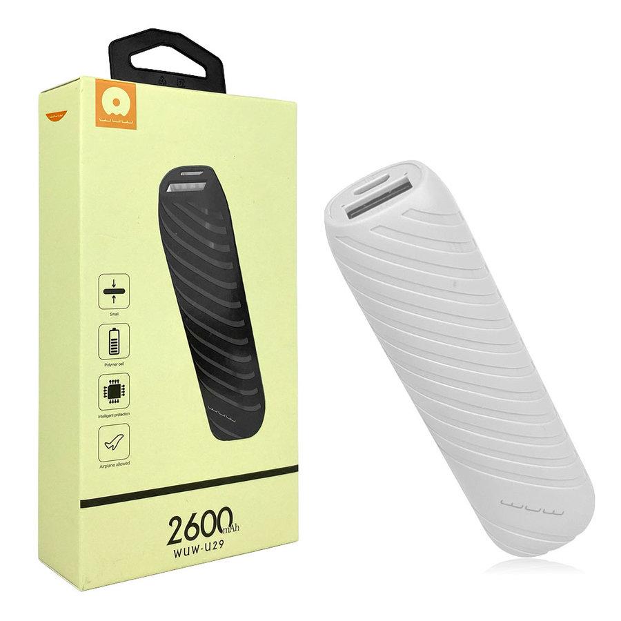 JLW WUW | 2,600 mAh Power Bank with Single USB (U29)