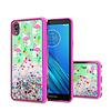 TPU Liquid Quicksand Glitter Flamingo Design Case For Motorola Moto E6