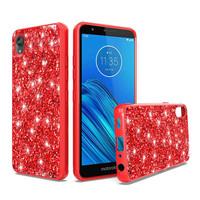 Metallic Chrome Frozen Glitter Case for Motorola Moto E6