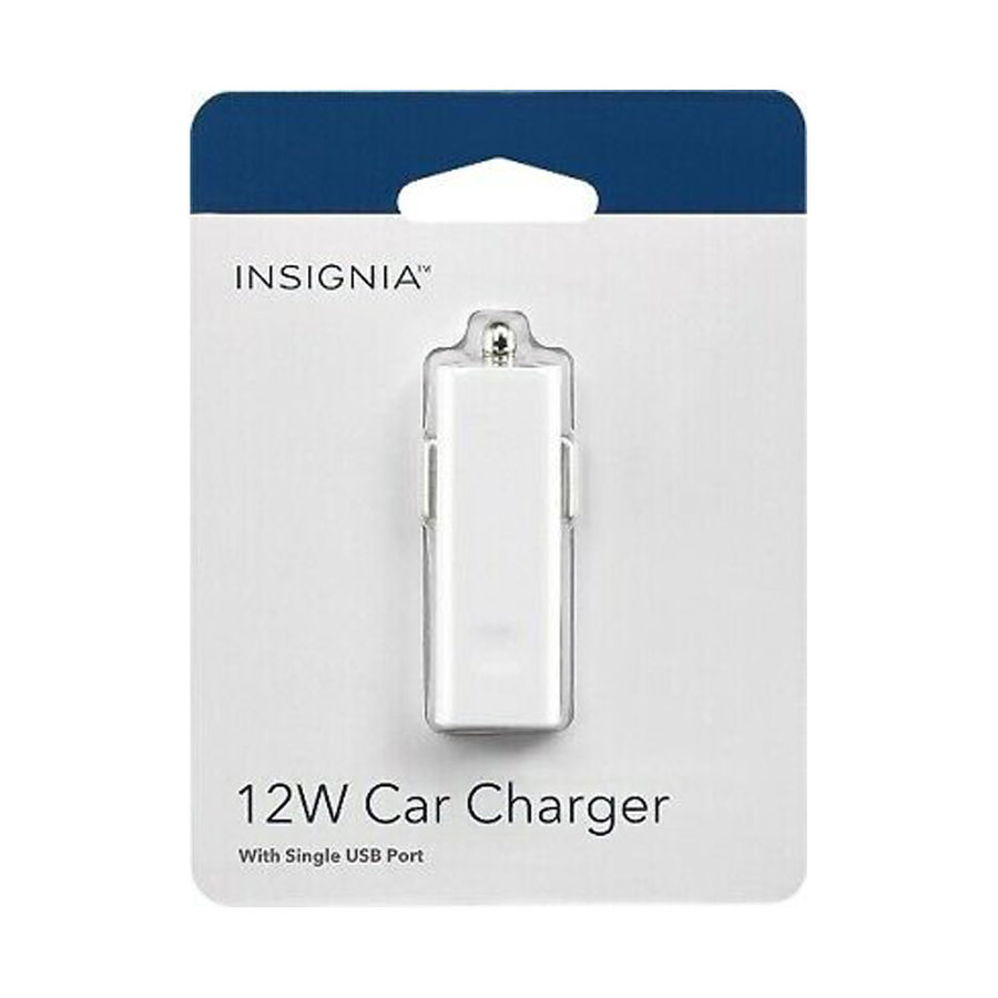 Insignia 12W / 2.4A Single USB Car Charger