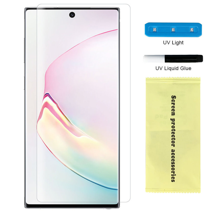 Nano UV Full Cover Tempered Glass for Galaxy Note 10 - Single Pack