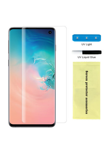 Nano UV Full Cover Tempered Glass for Galaxy S10 - Single Pack