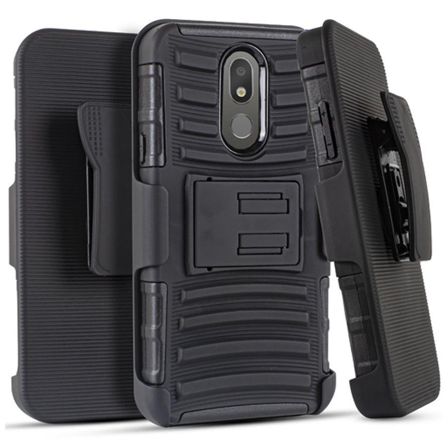Armor Kickstand Holster Clip Case For LG Aristo 4 plus