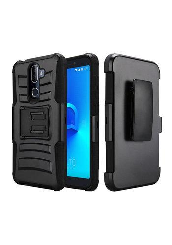 Armor Kickstand Holster Clip Case for Alcatel 3V