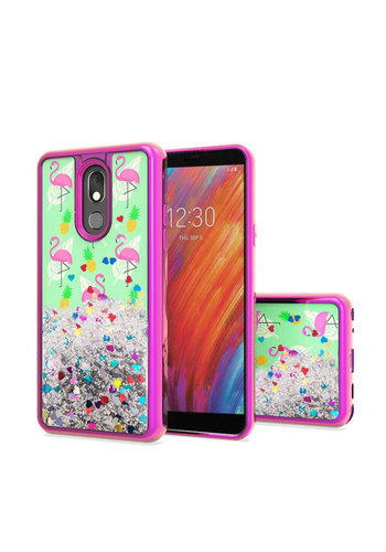 TPU Liquid Quicksand Glitter Flamingo Design Case For Aristo 4 Plus