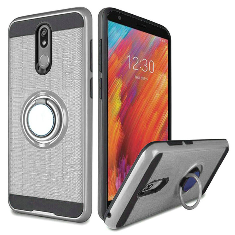 TPU Embossed Line Design Case with Magnetic Ring for Aristo 4 Plus
