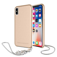 REBECCA MINKOFF Never Not Leather Case with Charm for iPhone X / XS
