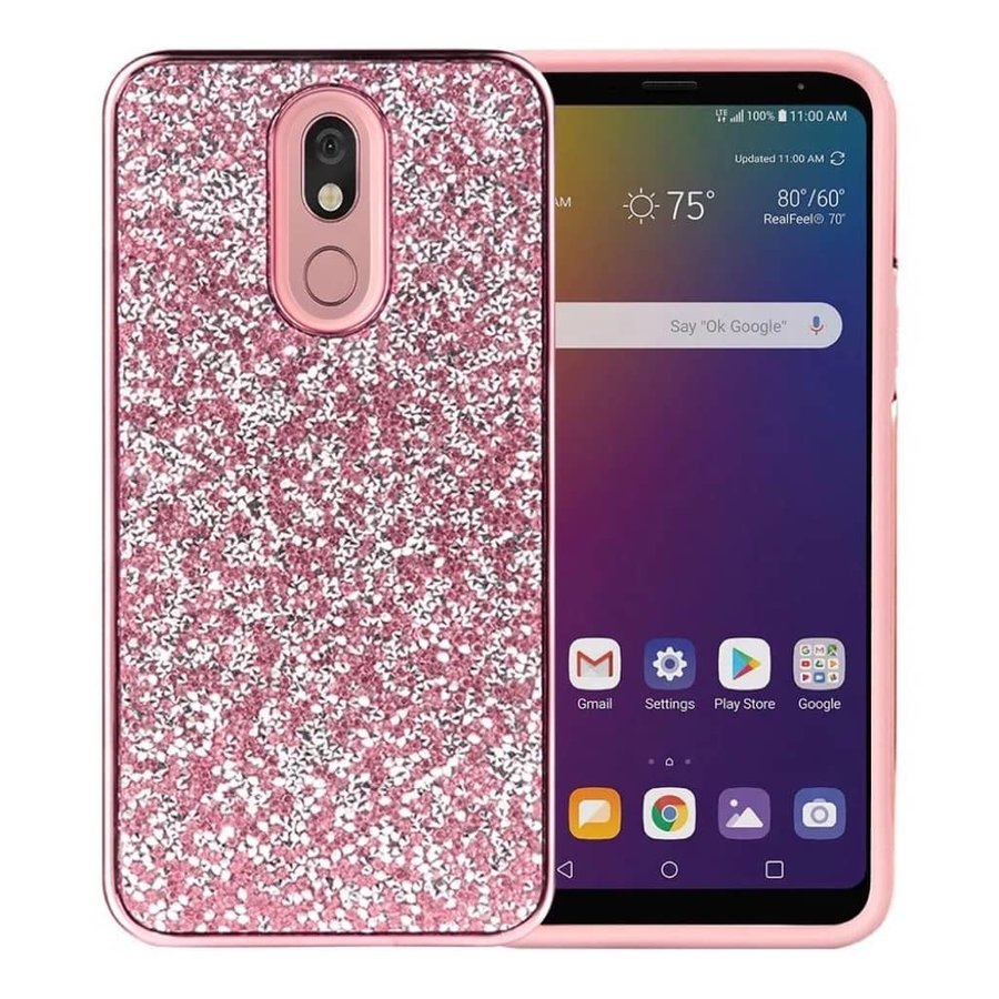 Hybrid PC TPU Deluxe Glitter Diamond Electroplated Case for LG Stylo 5