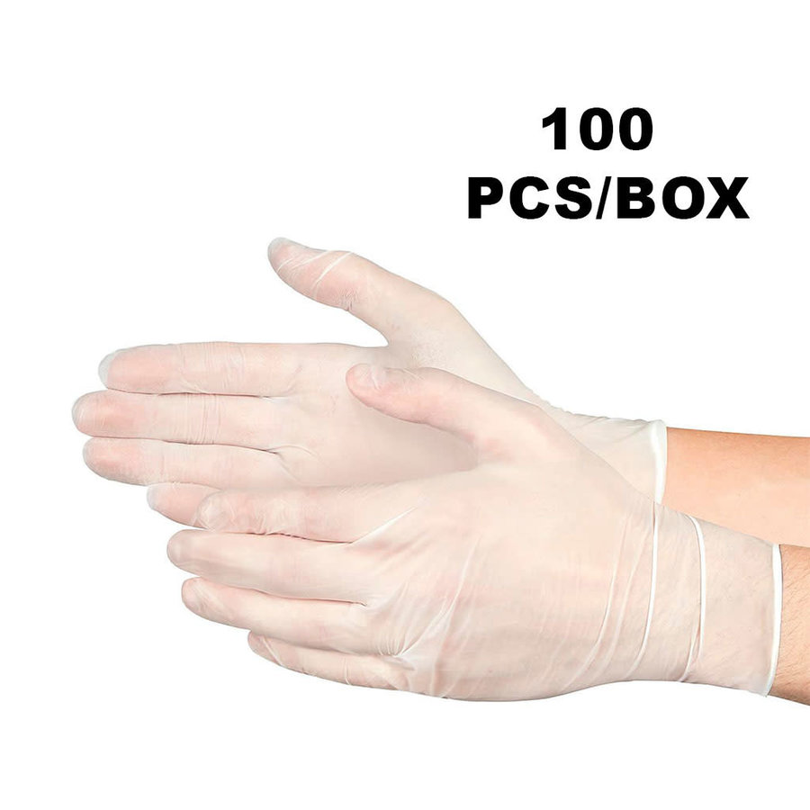 Powder Free Soft Vinyl Gloves (100pcs)