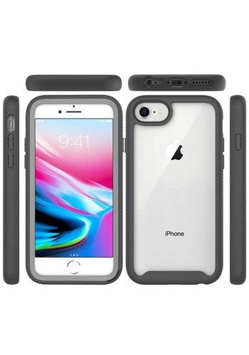 Hybrid Transparent Rubberized Shockproof Bumper Case for iPhone SE (2020) / 8 / 7 / 6 / 6S