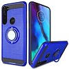 PC TPU Embossed Line Design Case with Magnetic Ring for Motorola Moto G Stylus