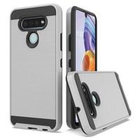 PC TPU Metallic Brushed Design Case for LG Stylo 6