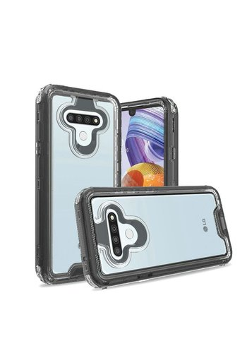 Transparent Shockproof Snap On Bumper Case for LG Stylo 6