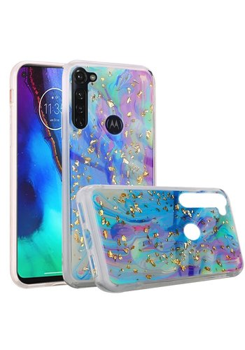Marble Glittler Colorful Galaxy Case for Motorola Moto G Stylus