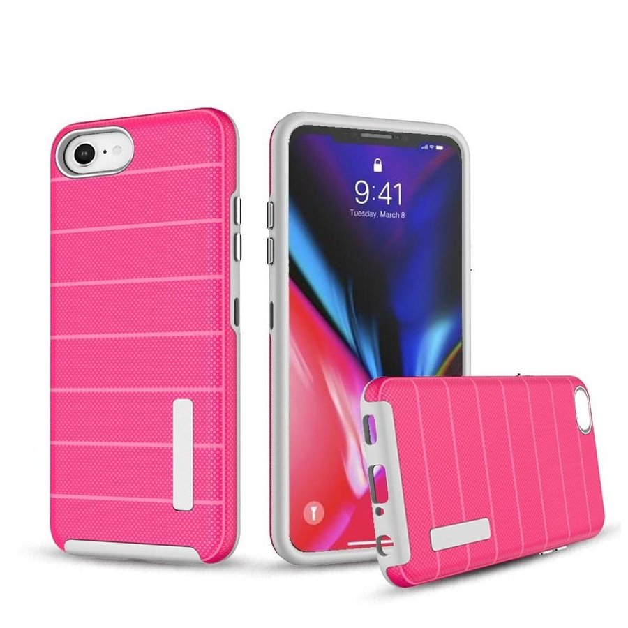 PC TPU Shock Proof Hybrid case with Stripes Design for iPhone SE (2020) 8 / 7