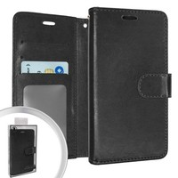 Hybrid PU Leather Flip Cover Case Wallet with Credit Card Slots for LG Stylo 6