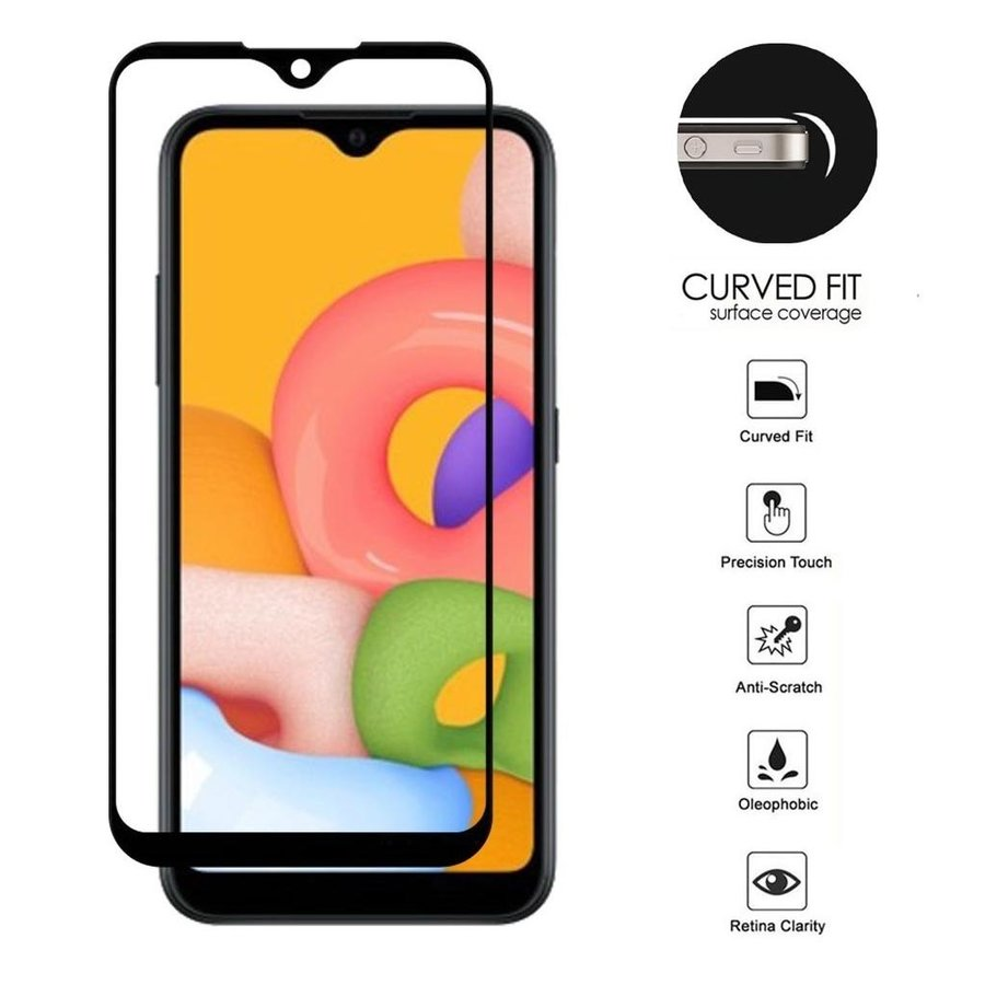 4D Full Cover Tempered Glass for Galaxy A01