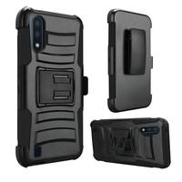 Armor Kickstand Holster Clip Case for Galaxy A01