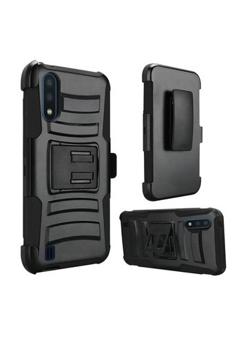 Armor Kickstand Holster Clip Case for Galaxy A01