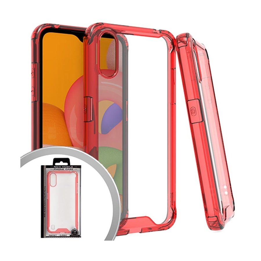 New Mobile Transparent TPU PC Hybrid Case for Galaxy A01