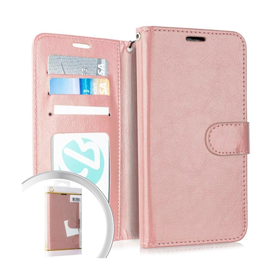 Hybrid PU Leather Flip Cover Case Wallet with Credit Card Slots for Galaxy A01