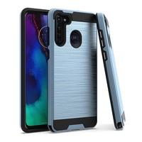 PC TPU Metallic Brushed Design Case for Motorola Moto G Stylus