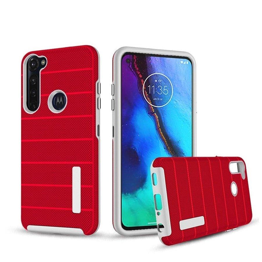PC TPU Shock Proof Hybrid case with Stripes Design for Motorola Moto G Stylus