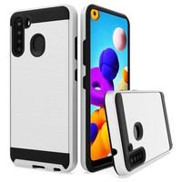 PC TPU Metallic Brushed Design Case for Galaxy A21