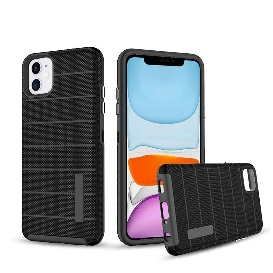 PC TPU Shock Proof Hybrid case with Stripes Design for iPhone 11
