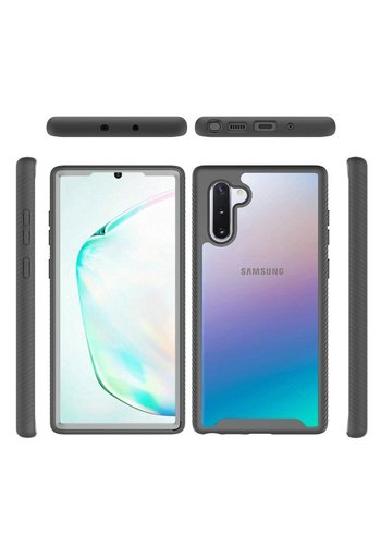Hybrid Transparent Rubberized Shockproof Bumper Case for Galaxy Note 10