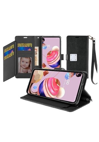 Hybrid PU Leather Metallic Flip Cover Wallet Case with Credit Card Slots for Aristo 5